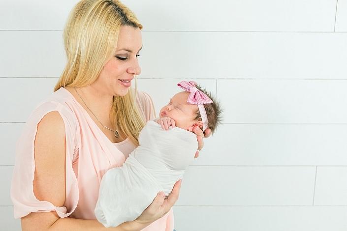 gilbert mom holding her newborn