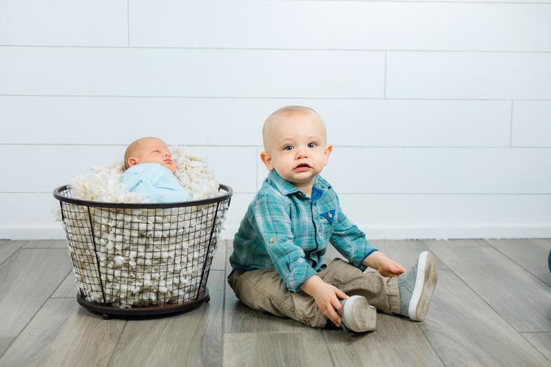 newborn and big brother