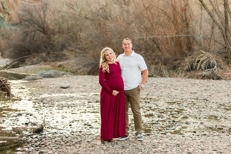 light and airy maternity session