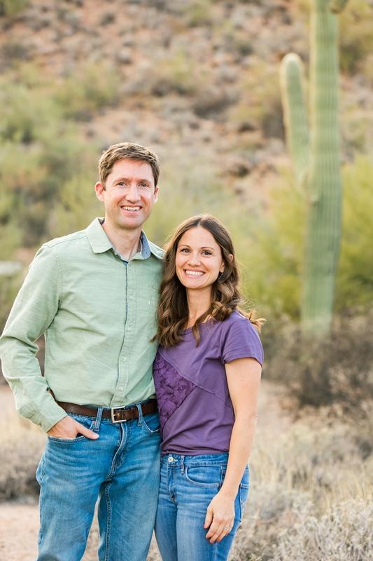 family photos in the desert